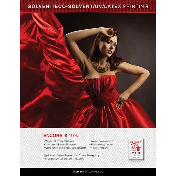 Fredrix Encore 901 GSJ Solvent Canvas 72in Roll