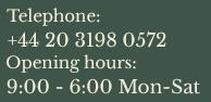 Tel: +44 (0) 207 836 7521